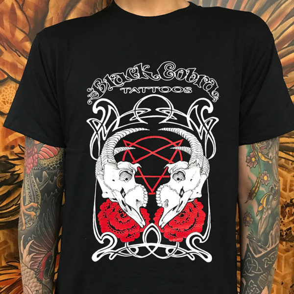 Black Cobra Goat Skull Shirt